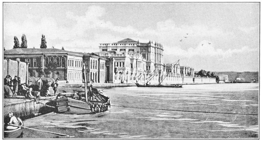 Dolmabahçe Sarayı Gravürü