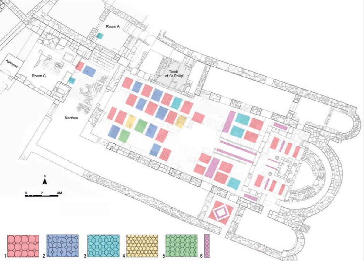 Havari Philippus Mezar Kilisesi Planı